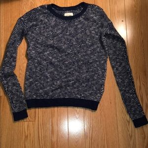 Navy and white light sweater